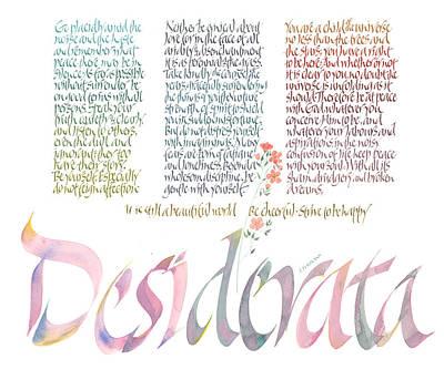 Desiderata Drawing - Desiderata by Dave Wood