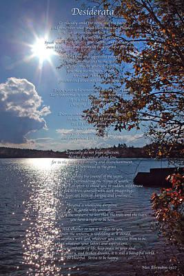 Autumn Photograph - Desiderata by Joann Vitali