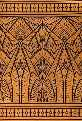 Design For A Pattern Illustration From Studies In Design Print by Christopher Dresser