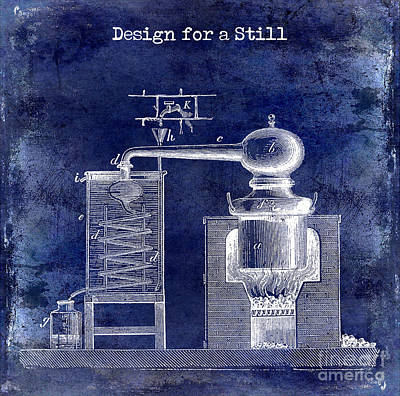 Cocktails Drawing - Design For A Still by Jon Neidert