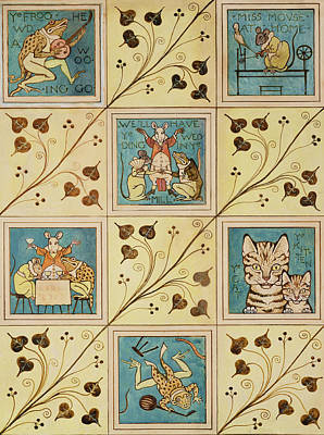Design For Nursery Wallpaper Print by Voysey