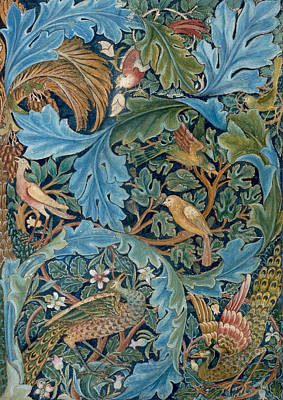 Peacock Drawing - Design For Tapestry by William Morris
