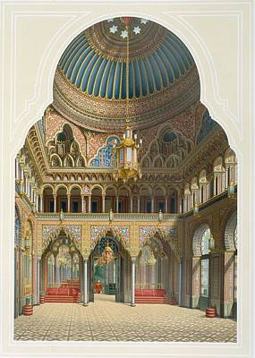 Design For The Entrance Hall Print by Karl Ludwig Wilhelm Zanth