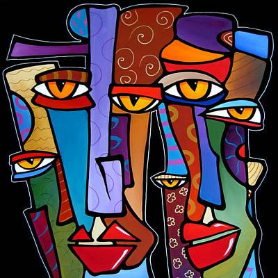 Abstract Pop Drawing - Design Stars By Fidostudio by Tom Fedro - Fidostudio