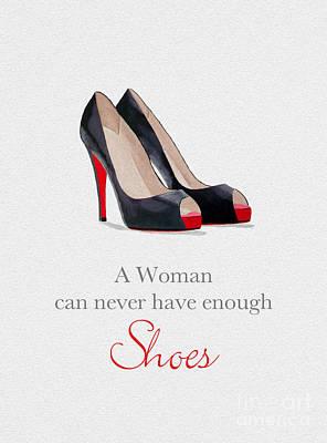Shoe Mixed Media - Designer Heaven by Rebecca Jenkins