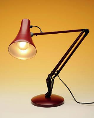 Desk Lamp Print by Public Health England