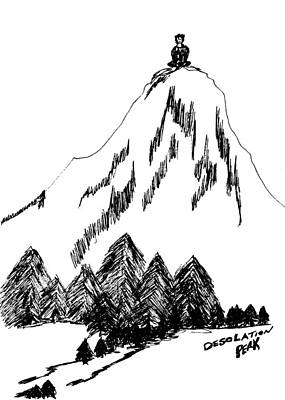 The Void Drawing - Desolation Peak_alone Time by Donna Haggerty