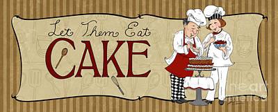 Desserts Kitchen Sign-cake Print by Shari Warren