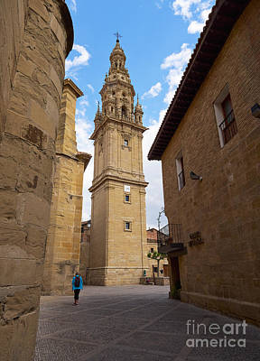 Detached Tower Of The Cathedral Of Santo Domingo De La Calzada Print by Louise Heusinkveld