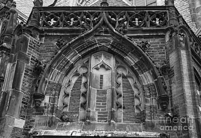 Weathervane Photograph - Detail Above Door Oude Kerk Amsterdam Bw by Teresa Mucha