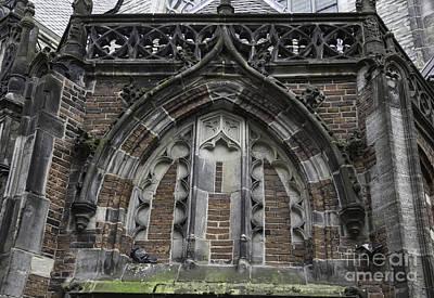 Weathervane Photograph - Detail Above Door Oude Kerk Amsterdam by Teresa Mucha
