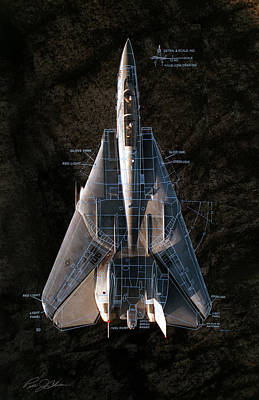 F-14 Digital Art - Detail And Scale F-14 Tomcat by Peter Chilelli