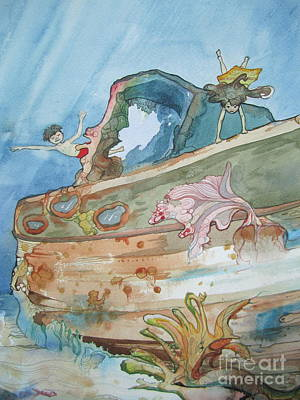 Scuba Painting - Detail by Maya Simonson