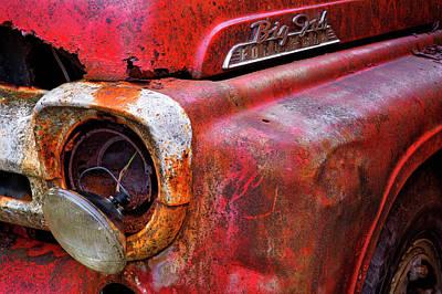Detail Of Fire Truck That Belonged Print by Marion Owen