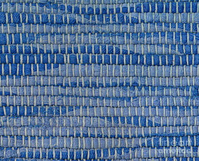 Warp-weft Photograph - Detail Of Old Rag Rug by Kerstin Ivarsson