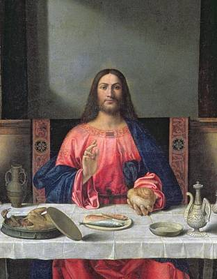 Partridge Painting - Detail Of The Supper At Emmaus by Giovanni Bellini