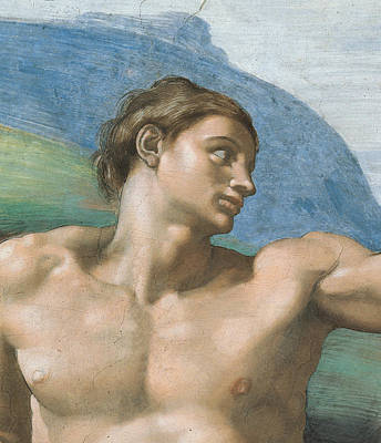 Detail Of The Vault Print by Michelangelo
