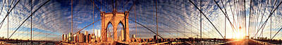 Built Structure Photograph - Details Of The Brooklyn Bridge, New by Panoramic Images