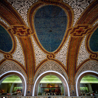 Mosaic Photograph - Details Of Tiffany Dome Ceiling by Panoramic Images