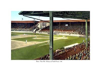 Detroit Tigers Digital Art - Detroit - Navin Field - Detroit Tigers - Michigan And Trumbull Avenues - 1914 by John Madison