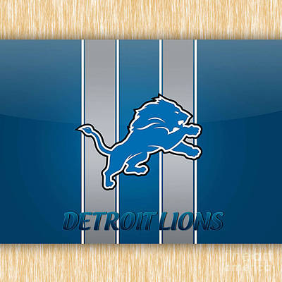 Pig Mixed Media - Detroit Lions by Marvin Blaine