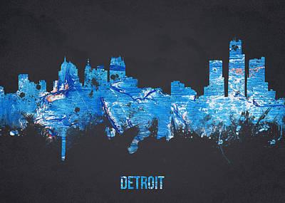 Michigan Theatre Digital Art - Detroit Michigan Usa by Aged Pixel