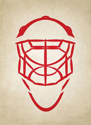 Hockey Photograph - Detroit Red Wings Goalie Mask by Joe Hamilton
