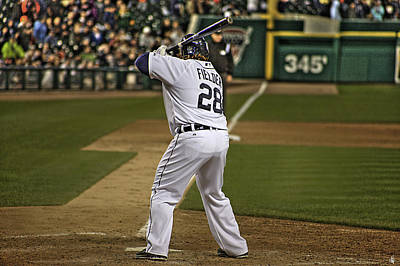 Detroit Tiger Prince Fielder Print by A And N Art