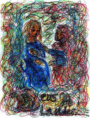 Religious Artist Drawing - Deus A Laudes by Rachel Scott