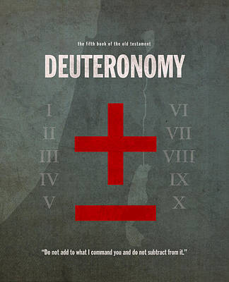 Old Mixed Media - Deuteronomy Books Of The Bible Series Old Testament Minimal Poster Art Number 5 by Design Turnpike