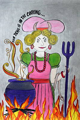 Devilish Cook Print by V C