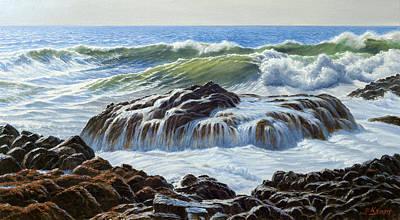 Oregon Painting - Devil's Churn Area-oregon Coast by Paul Krapf