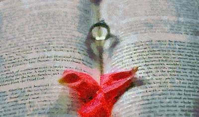 Anniversary Ring Painting - Devotion by Dan Sproul
