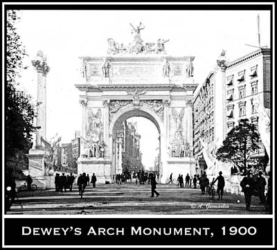 Dewey Arch Monument New York City 1900 Print by A Gurmankin