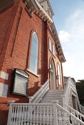 Dexter Avenure Babtist Church Entrance Print by Carol Groenen
