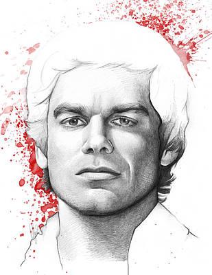 Dexter Drawing - Dexter Morgan by Olga Shvartsur