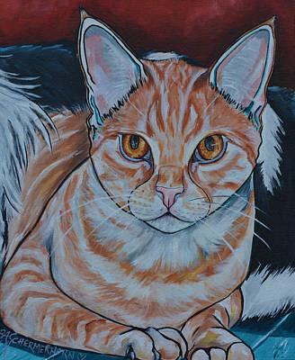 Domestic Short Hair Cat Painting - Dexter by Patti Schermerhorn