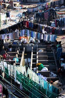 Laundromat Photograph - Dhobi Ghat Open-air Laundry by Mark Williamson