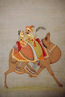 Dhola Maru Riding Camel Print by Dinodia