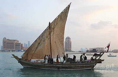Dhow And Hotels Print by Paul Cowan