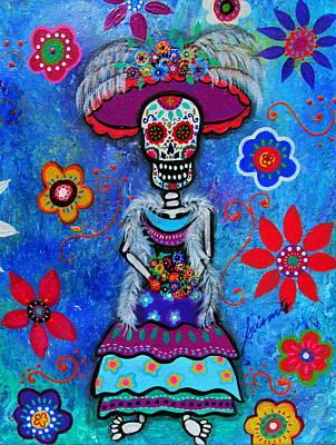 Dia De Los Muertos Catrina Original by Pristine Cartera Turkus