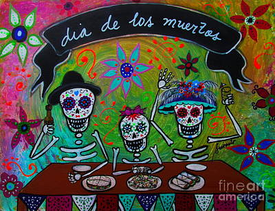 Dia De Los Muertos Familia Print by Pristine Cartera Turkus
