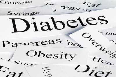 Diabetes Concept Print by Colin and Linda McKie