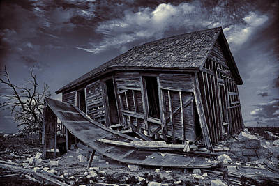 Decrepit Photograph - Diabolical Farmstead by Thomas Zimmerman