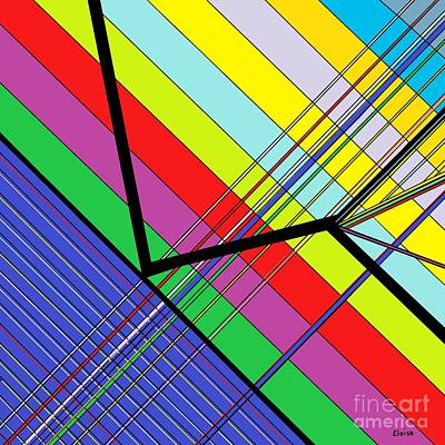 Math Painting - Diagonal Color by Eloise Schneider