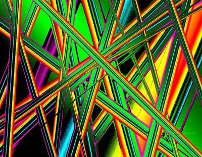 Horizontal Digital Art - Diagonal Lines by Mario Perez