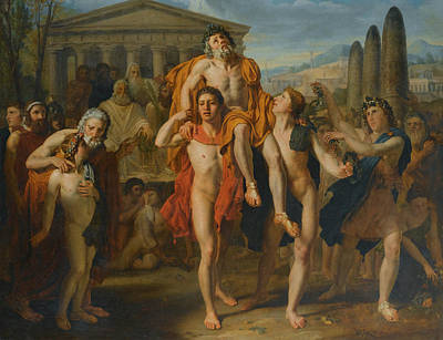 Rhodes Painting - Diagoras Of Rhodes by French School 18th Century