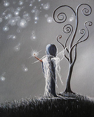 Fantasy Fairy Art Painting - Diamond Fairy By Shawna Erback by Shawna Erback