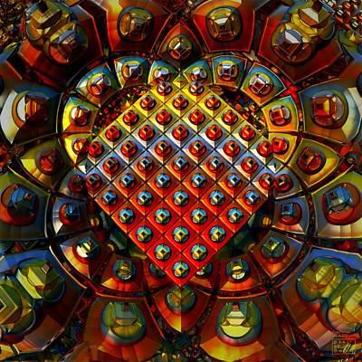 Diamond Heart Original by B Brummbaer
