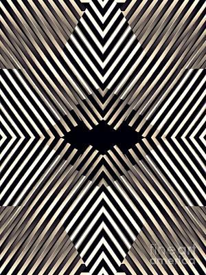 Diamond Illusion In Sepia Print by Sarah Loft